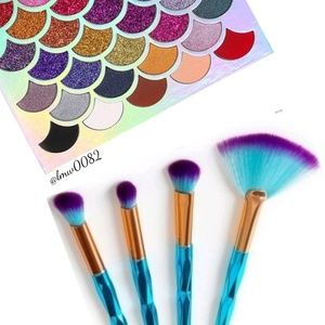 Other - Diamond Grip Ombre Makeup Brushes NIP